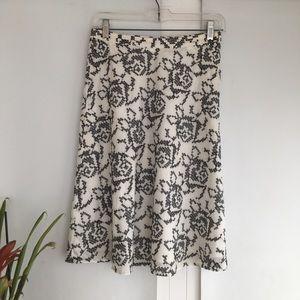 Kors Michael Kors Floral Black and White Skirt